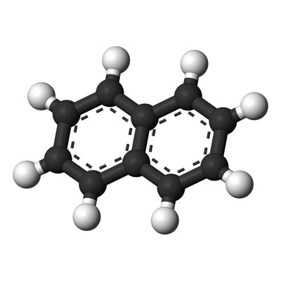 Chemical structure of carbon deposition material