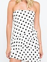 dresses PolkaDot Off Shoulder Ruffle Mini Dress