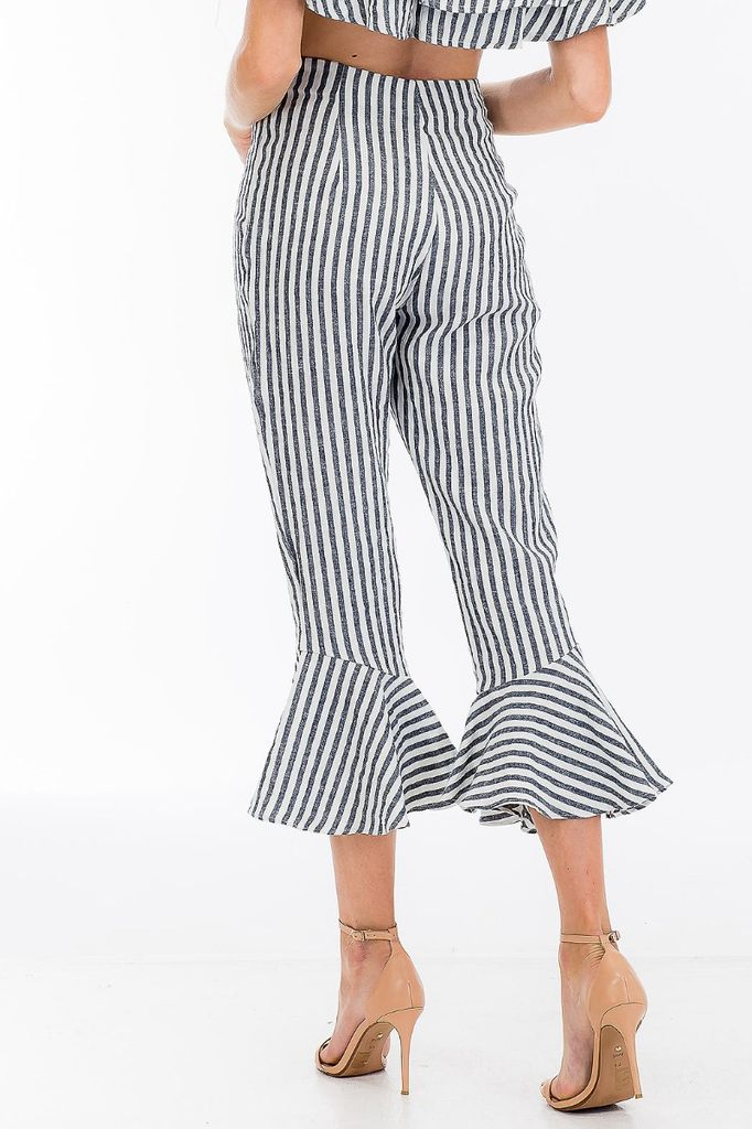 Bottoms Striped Flared Pants