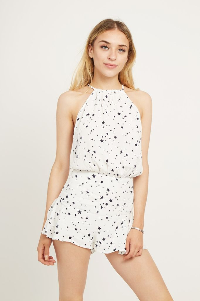 Rompers Stars Open Back Romper