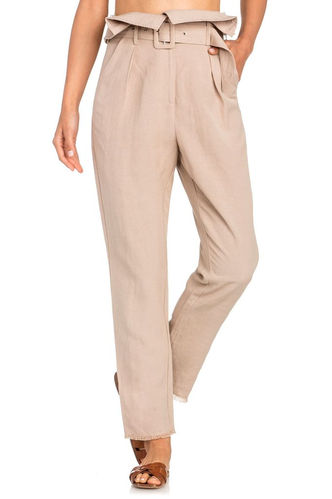 Bottoms High Waist Linen Pants