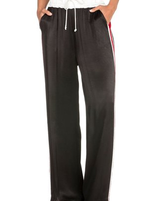 Bottoms Satin Wide Leg track Pants