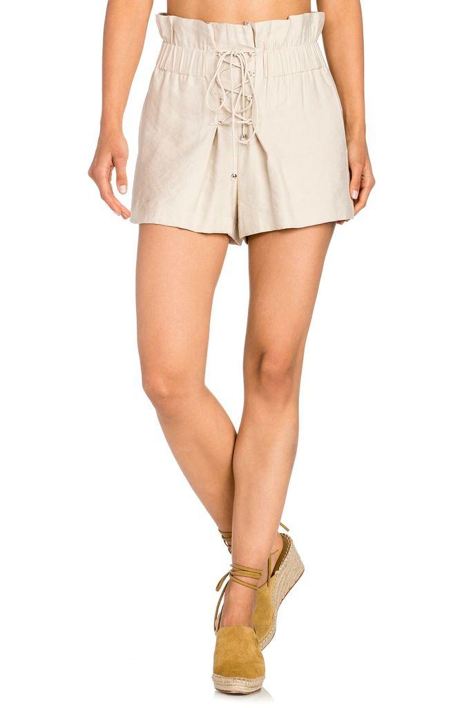 shorts Paperbag Lace Up Shorts
