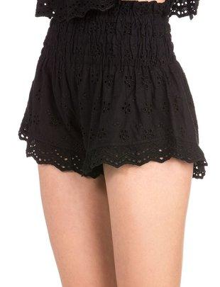 shorts Eyelet High Waist Shorts