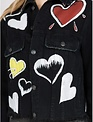 jackets Love Graffiti Crop Denim Jacket