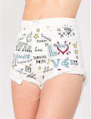 shorts Doodle Paint High Rise Shorts