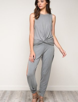 Bottoms Side Slit Lounge Pants