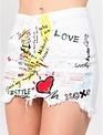 Skirt Doodle Painted Denim Skirt