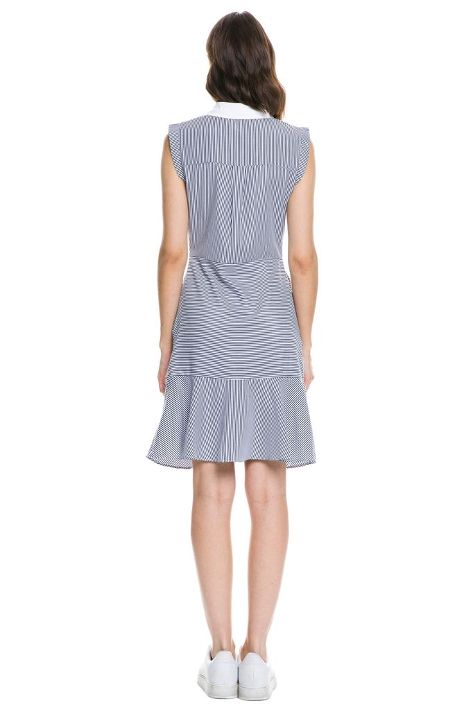dresses Stripe Sleeveless Shirt Dress