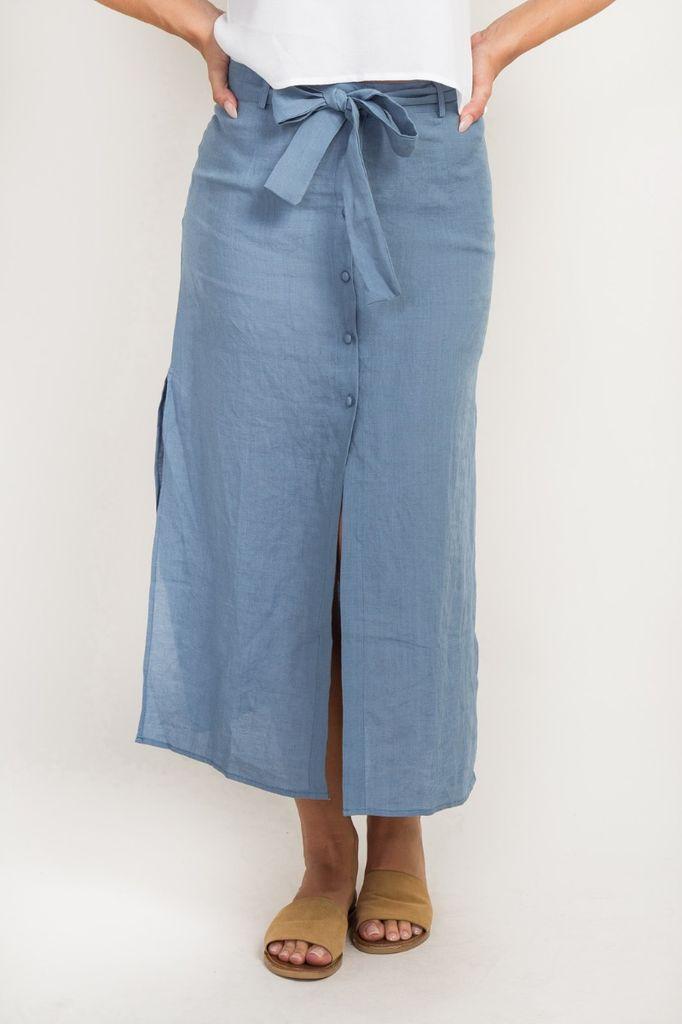 Skirt Belted Midi Skirt