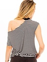 tops Noemi Striped Cutout Tee