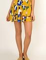 Skirt Floral Smocked Skirt