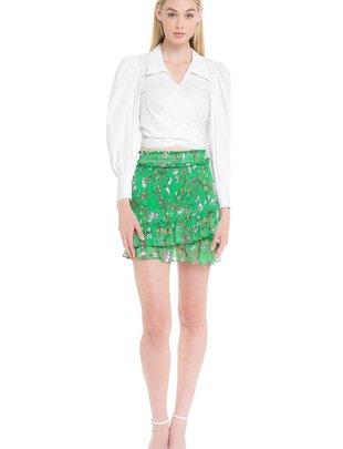 Skirt Floral Print Mini Skirt