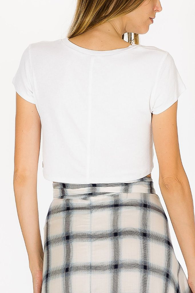 tops Olivia Cropped Tee