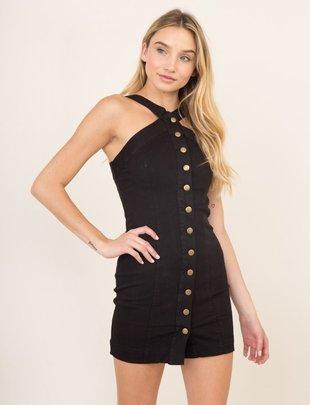 63c73e1502 dresses Button-Up Denim Dress