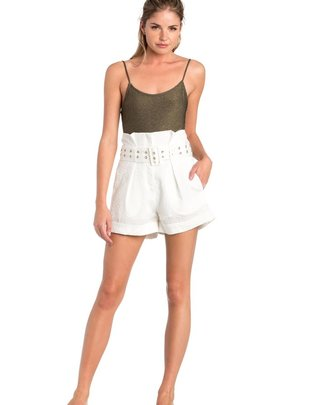 shorts High Waist Pinstripe Shorts