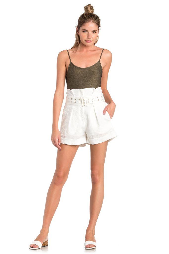 shorts High Waist Pinstripe Shorts