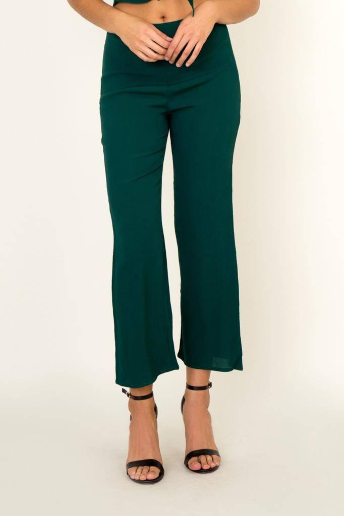 Bottoms Hi-Waist Crop Pants