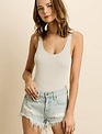 tops Sleeveless Ribbed Bodysuit