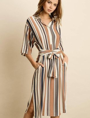 dresses Endless Stripe Midi Dress