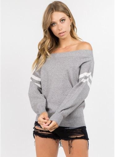 sweaters Off Shoulder Knit Sweater