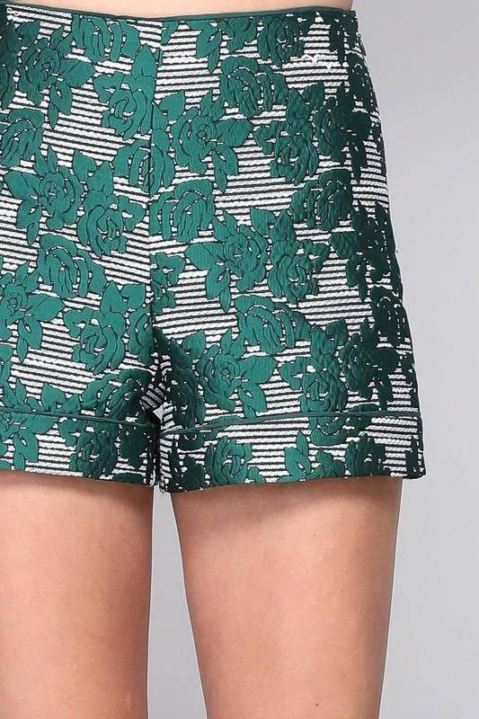 shorts Floral Plaid Shorts