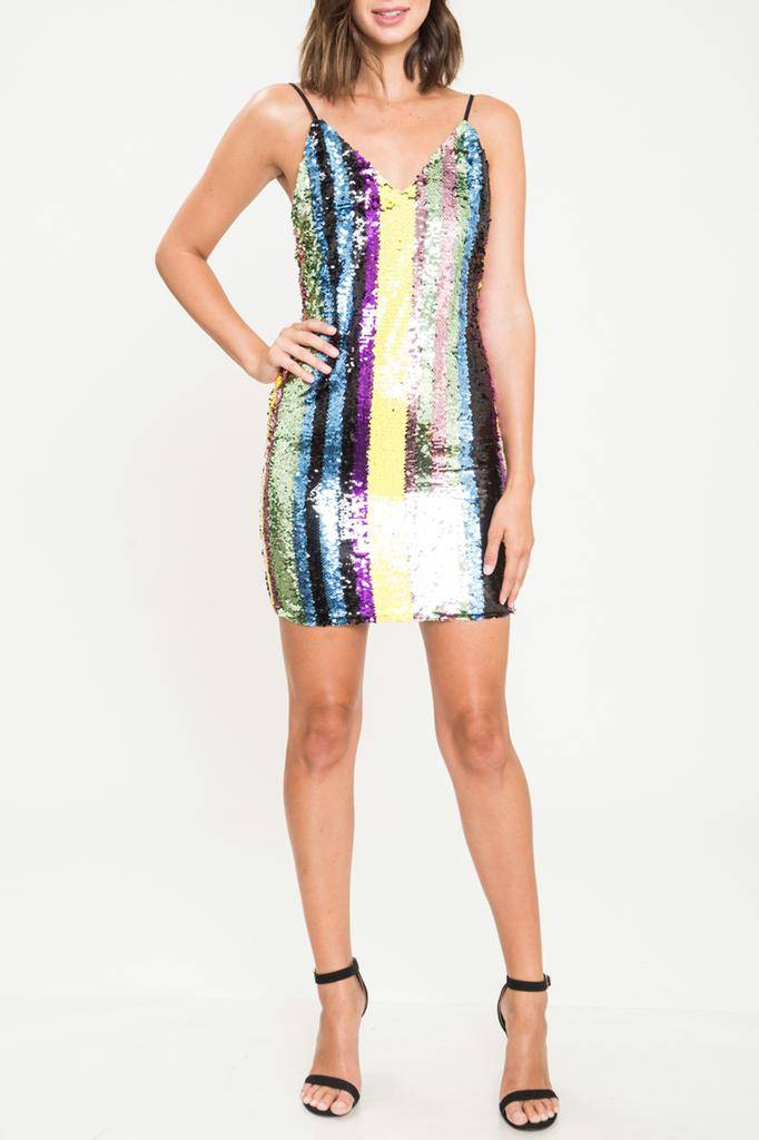 dresses Sequin Spaghetti Strap Dress