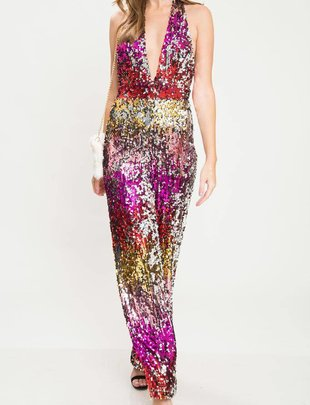 Jumpsuits Multicolor Sequin Jumpsuit