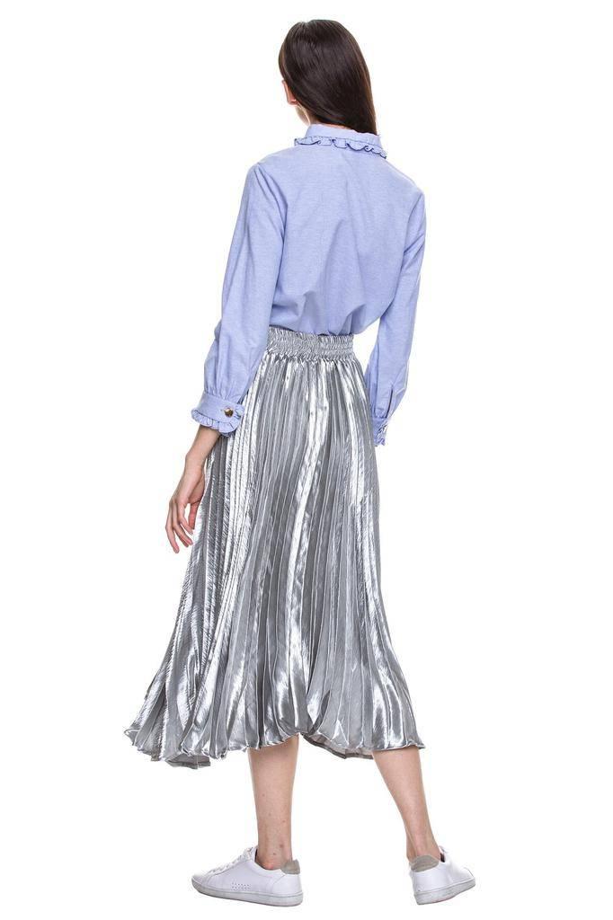 Skirt Pleated Matallic Skirt