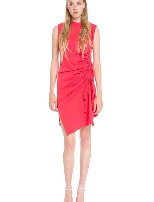 dresses Gathered Dress W/shoulder Pads