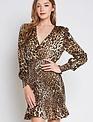 dresses Leopard Smocked Mini Dress
