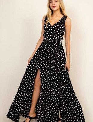 maxi Polka Dot Goddess Maxi Dress