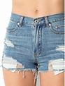 shorts Distressed High Rise Shorts