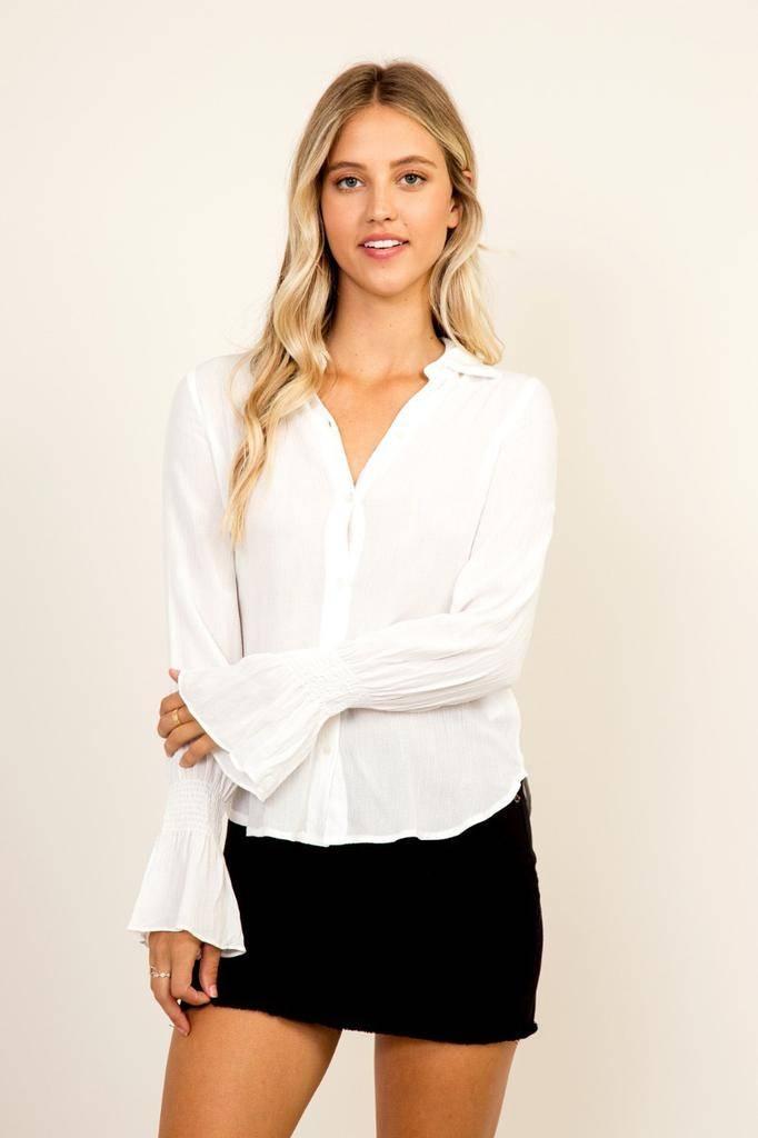 tops Bell Sleeve Shirt