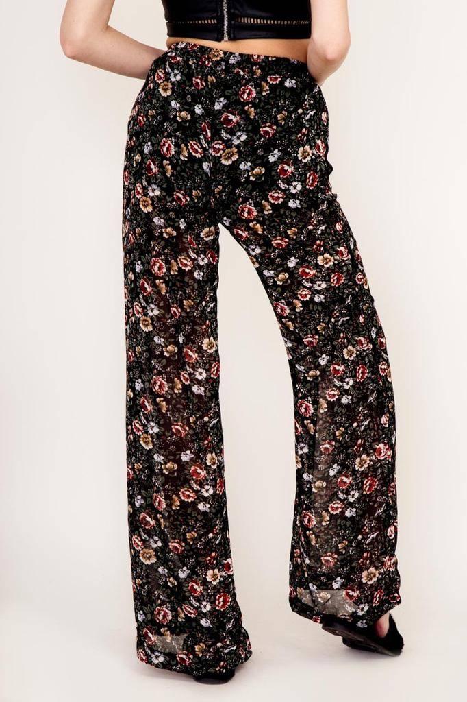 Bottoms Festive Floral Pants