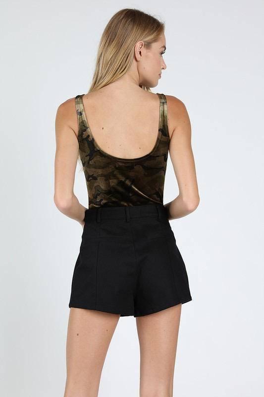 Camo Print Bodysuit