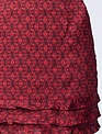 Skirt Ruffle Detail Silky Mini Skirt