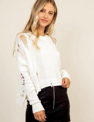 sweaters Olivia Distressed Sweater