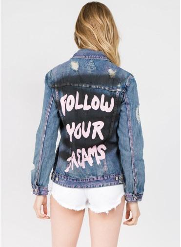 denim Follow Your Dreams Jacket