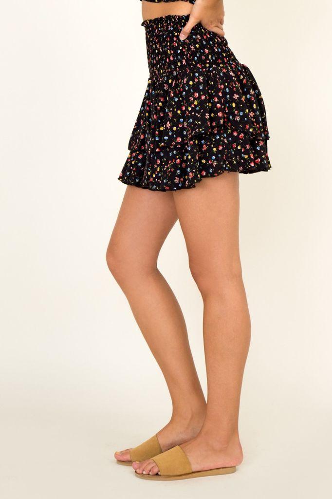 Skirt Rainbow Ditsy Daisy Mini skirt