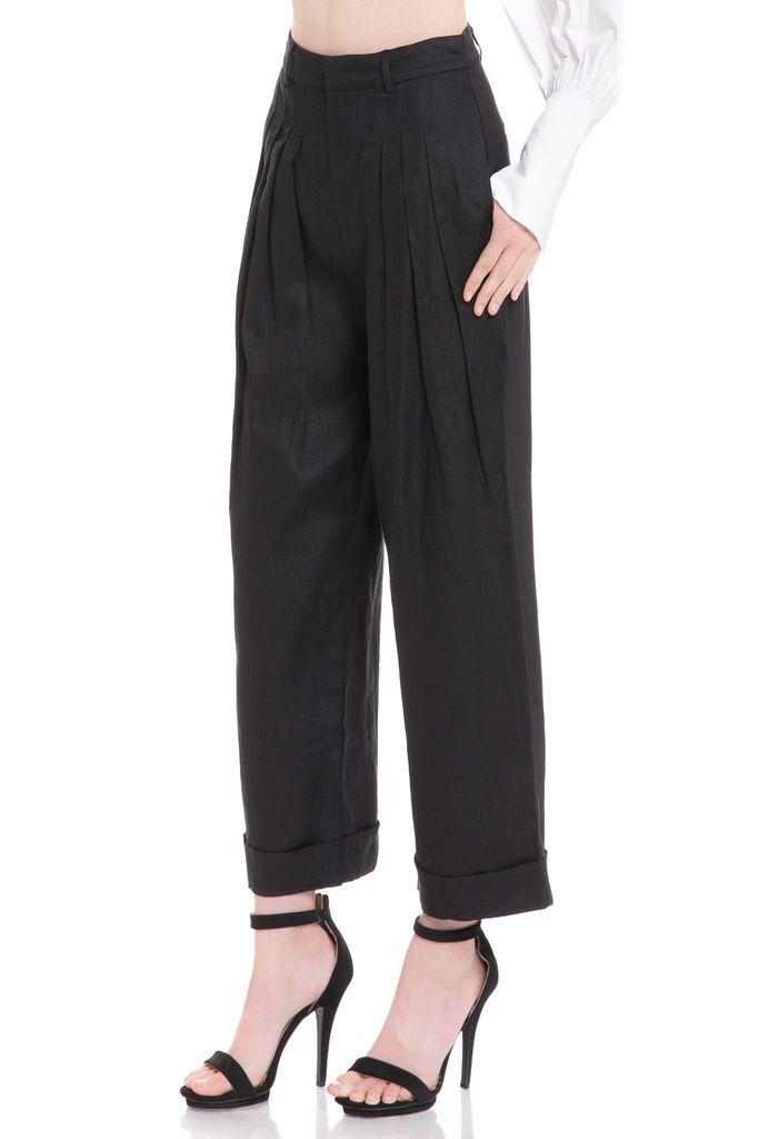 Bottoms High Waist Linen Trousers