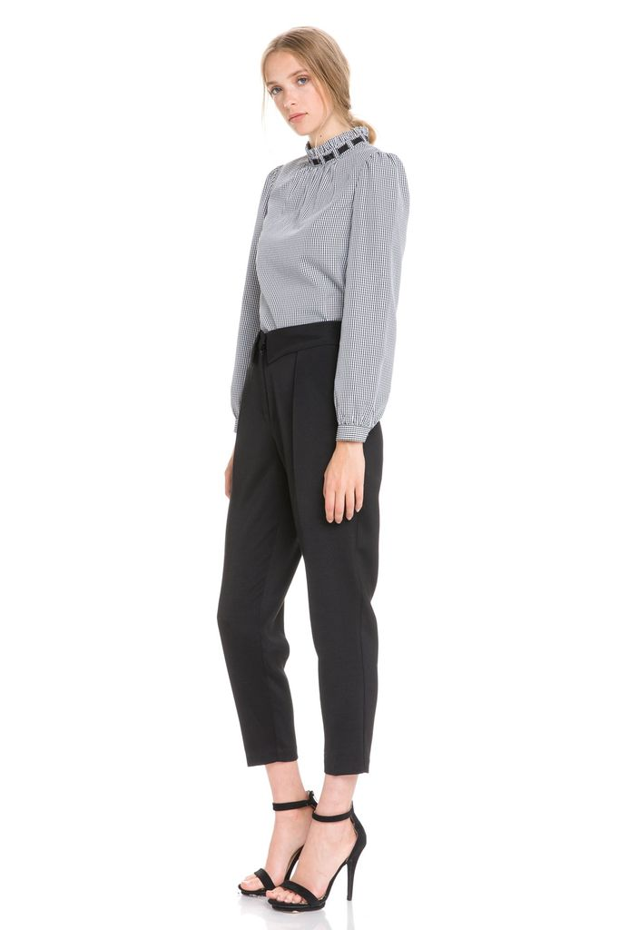 Bottoms Collar Detail Pants