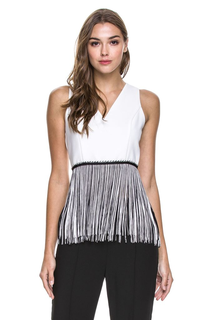 tops Fringed Crop Top