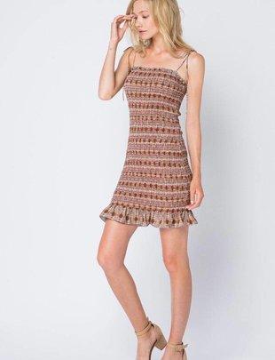 dresses Sleeveless Smocked Mini Dress