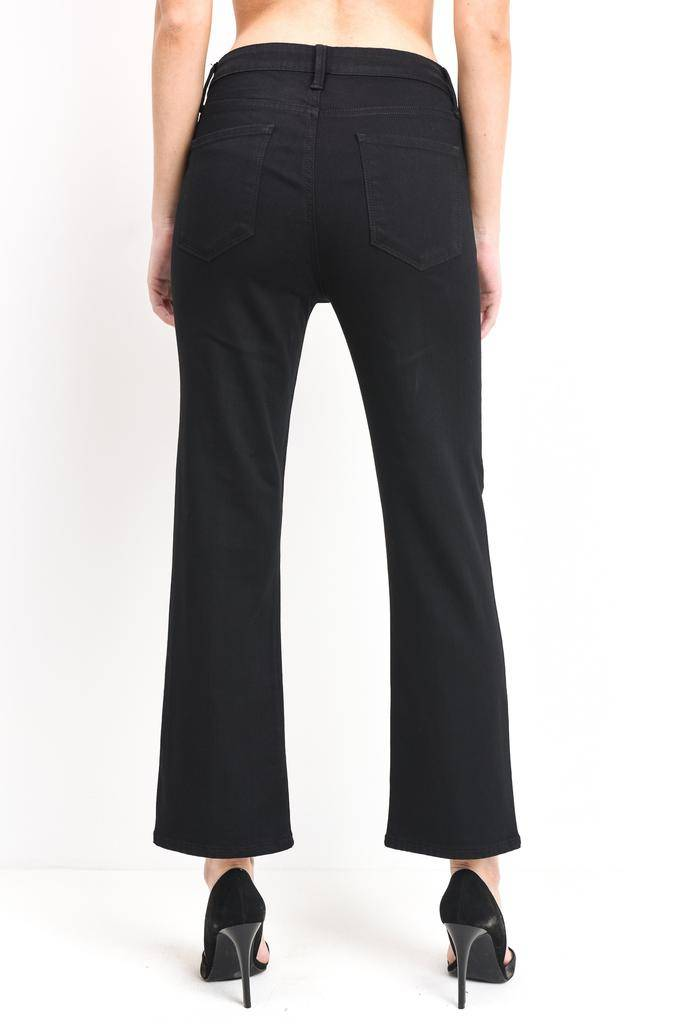Premium denim High Rise Straight W/Front Split