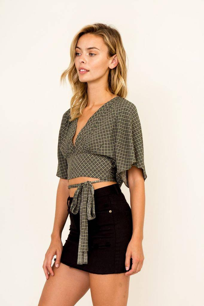 tops Leah Ditsy Print Crop Top