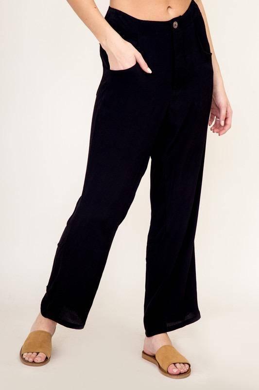 Bottoms High Waist pocket Pant