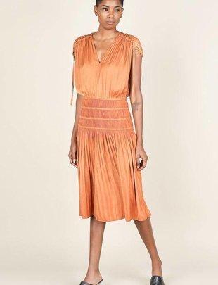 334c508018 Drawstring Smocked Midi Dress