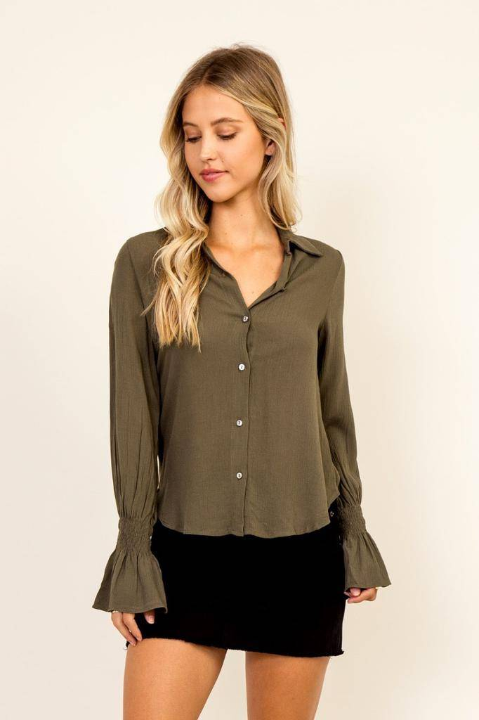 tops Bell Sleeve Shirt