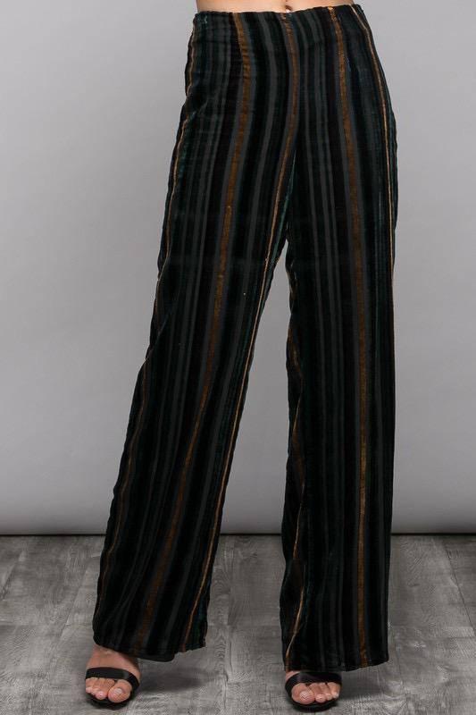 Bottoms Velvet multi Color Pants
